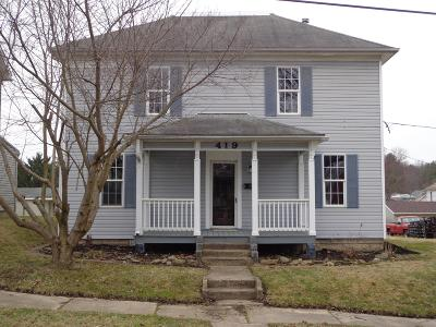 Crooksville OH Single Family Home For Sale: $104,900