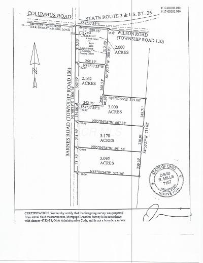 Centerburg Residential Lots & Land For Sale: Barnes Road