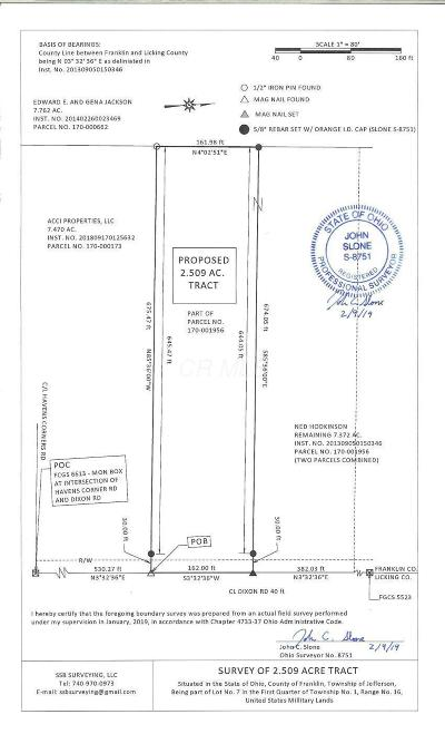 Blacklick Residential Lots & Land For Sale: 10 Dixon Road SW