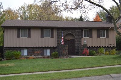 Single Family Home For Sale: 3463 Cherry Hill Drive
