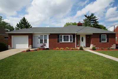 Cincinnati Single Family Home For Sale: 5262 Highview Drive