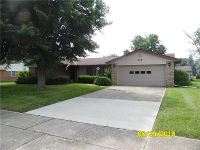Preble County Single Family Home For Sale: 435 E Lexington Road
