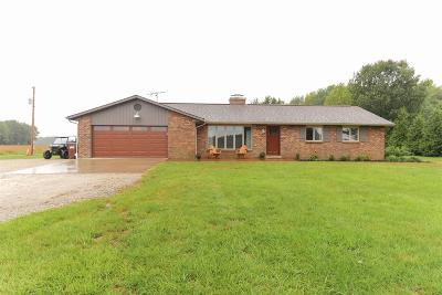 Lawrenceburg, Aurora, Bright, Brookville, West Harrison, Milan, Moores Hill, Sunman, Dillsboro Single Family Home For Sale: 13311 N County Line Road