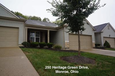 Monroe Condo/Townhouse For Sale: 250 Heritage Green Drive