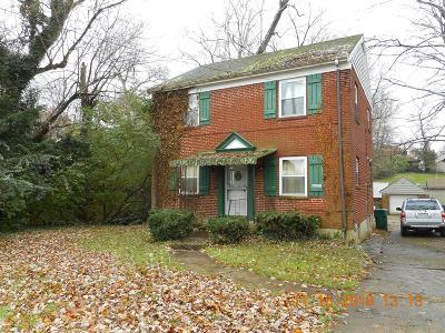 Cincinnati Single Family Home For Sale: 1421 Northbend