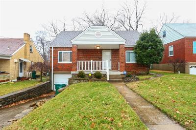 Cincinnati OH Single Family Home For Sale: $129,900