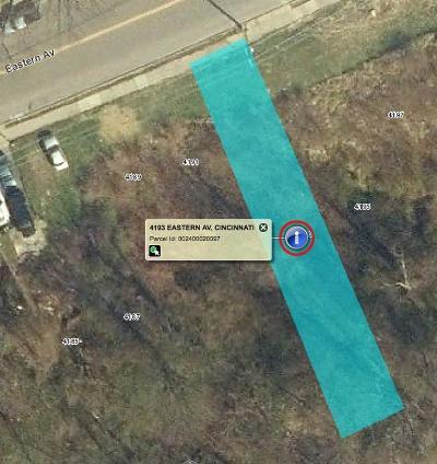 Cincinnati Residential Lots & Land For Sale: 4193 Eastern Avenue