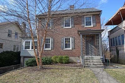 Cincinnati Single Family Home For Sale: 3411 Morrison Place