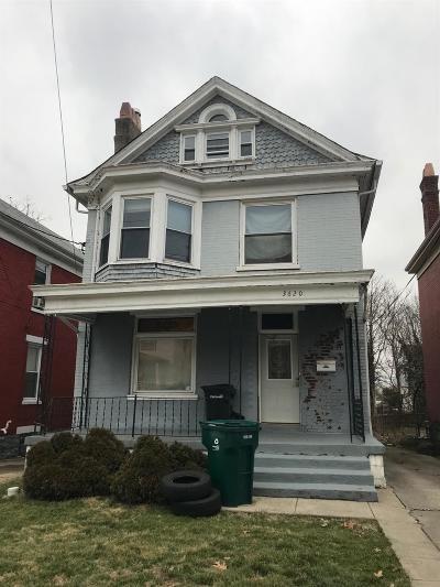 Cincinnati Single Family Home For Sale: 3620 Wabash Avenue