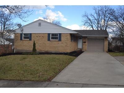 Sharonville Single Family Home For Sale: 10938 Conestoga Court