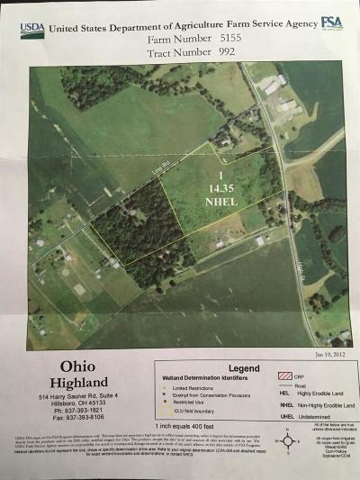 Highland County Residential Lots & Land For Sale: St Rt 73
