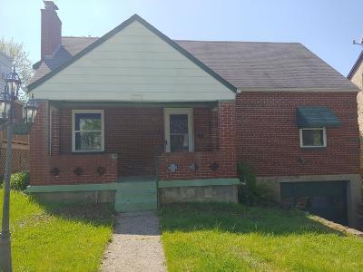 Cincinnati OH Single Family Home For Sale: $68,536