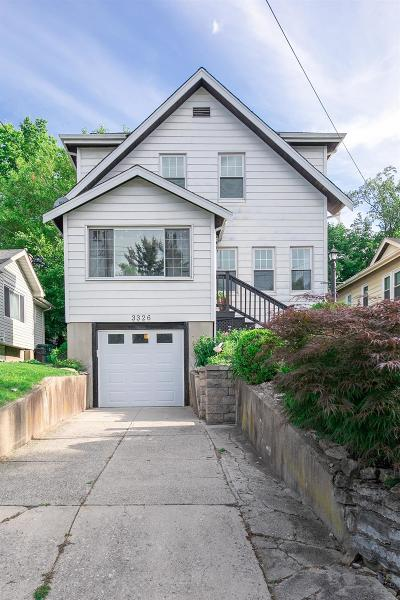 Cincinnati Single Family Home For Sale: 3326 E Woodmont Avenue
