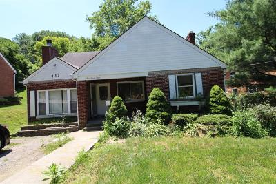 Cincinnati OH Single Family Home For Sale: $89,900
