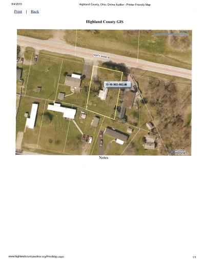 Highland County Residential Lots & Land For Sale: 11638 North Shore Drive