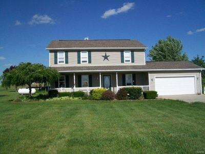 Tipp City Single Family Home For Sale: 4005 Ginghamsburg-West Charleston Road