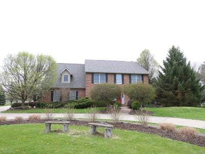 Tipp City Single Family Home For Sale: 2066 Ginghamsburg Frederick Road