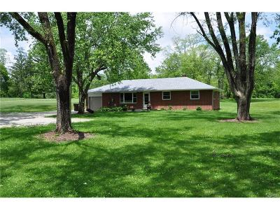 Tipp City Single Family Home For Sale: 395 Ginghamsburg Road