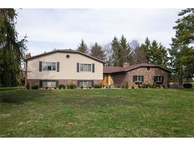 Tipp City Single Family Home For Sale: 2565 Gingham Frederick Road