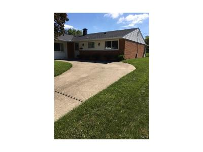 Huber Heights Single Family Home For Sale: 7092 Harshmanville Road