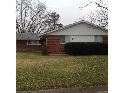 Dayton OH Single Family Home For Sale: $77,500