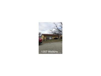 Dayton Single Family Home For Sale: 1357 Watkins Place