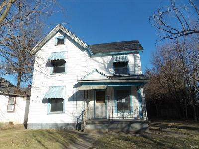 Springfield OH Single Family Home For Sale: $13,500