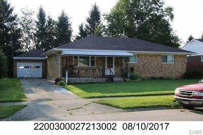 Springfield OH Single Family Home For Sale: $129,900