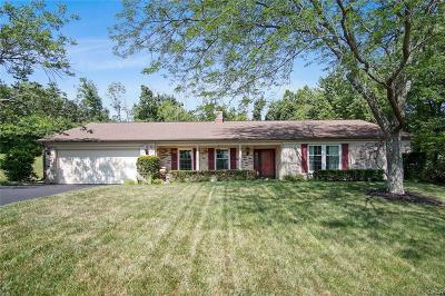Centerville Single Family Home For Sale: 6859 Sycamore Creek Court