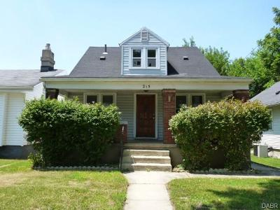 Dayton OH Single Family Home For Sale: $20,000
