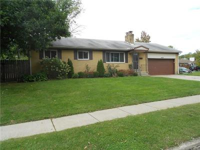 Kettering Single Family Home For Sale: 4351 Carlo Drive