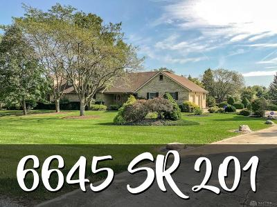 Tipp City Single Family Home For Sale: 6645 State Route 201