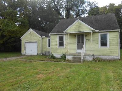 Single Family Home For Sale: 2731 Dayton Road