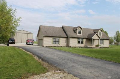 West Milton Single Family Home For Sale: 4855 Kessler Frederick Road