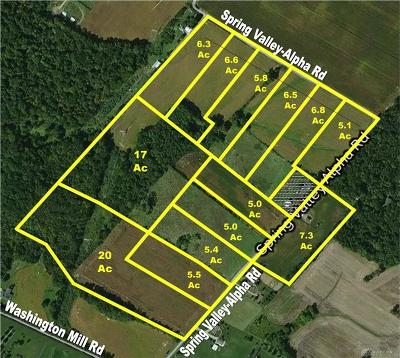Greene County Residential Lots & Land For Sale: 102 Acres Spring Valley-Alpha Road