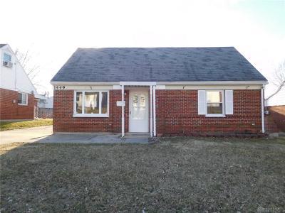 Dayton Single Family Home For Sale: 1449 John Glenn Road #3
