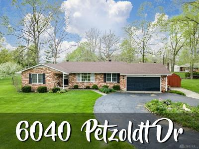 Tipp City Single Family Home For Sale: 6040 Petzoldt Drive