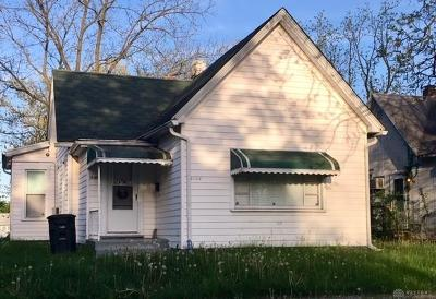 Dayton OH Single Family Home For Sale: $31,100