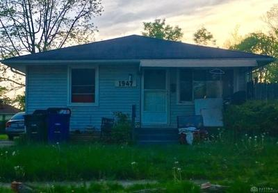 Dayton OH Single Family Home For Sale: $30,100