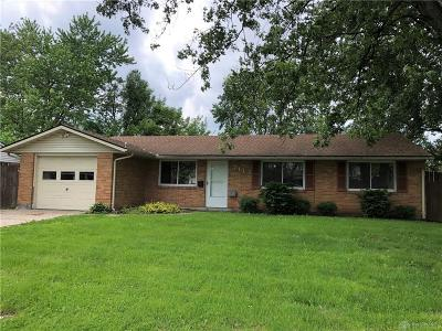 Huber Heights Single Family Home For Sale: 7113 Brandt Pike