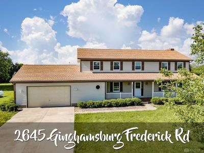 Tipp City Single Family Home For Sale: 2645 Ginghamsburg Frederick Road