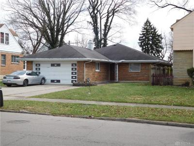 Dayton OH Single Family Home For Sale: $49,000