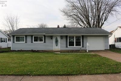 Sandusky OH Single Family Home For Sale: $118,000