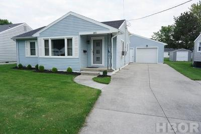 Findlay OH Single Family Home For Sale: $104,000