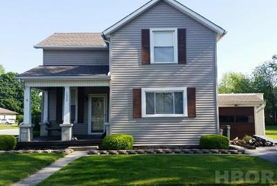 Findlay OH Single Family Home For Sale: $101,900