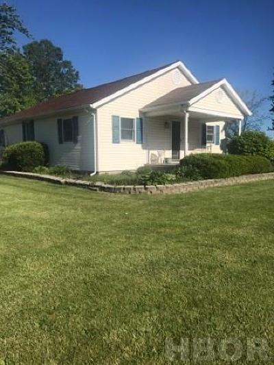Tiffin Single Family Home For Sale: 6370 North State Route 53