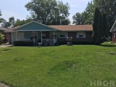 Findlay OH Single Family Home For Sale: $121,000