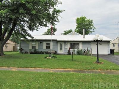 Findlay OH Single Family Home For Sale: $128,000