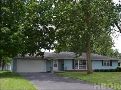 Findlay OH Single Family Home For Sale: $113,500