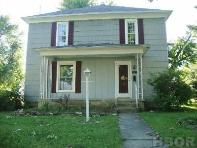 Fostoria OH Single Family Home For Sale: $65,000